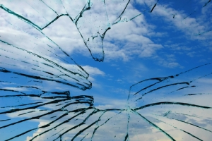 broken glass ceiling